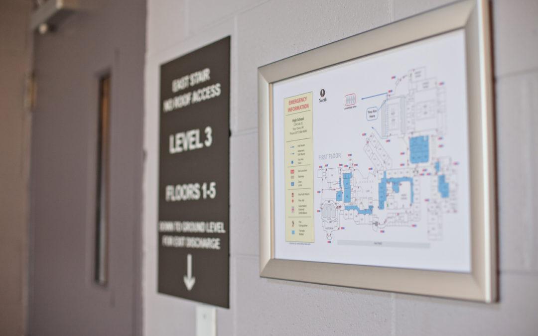 Evacuation Map Frames and Signage