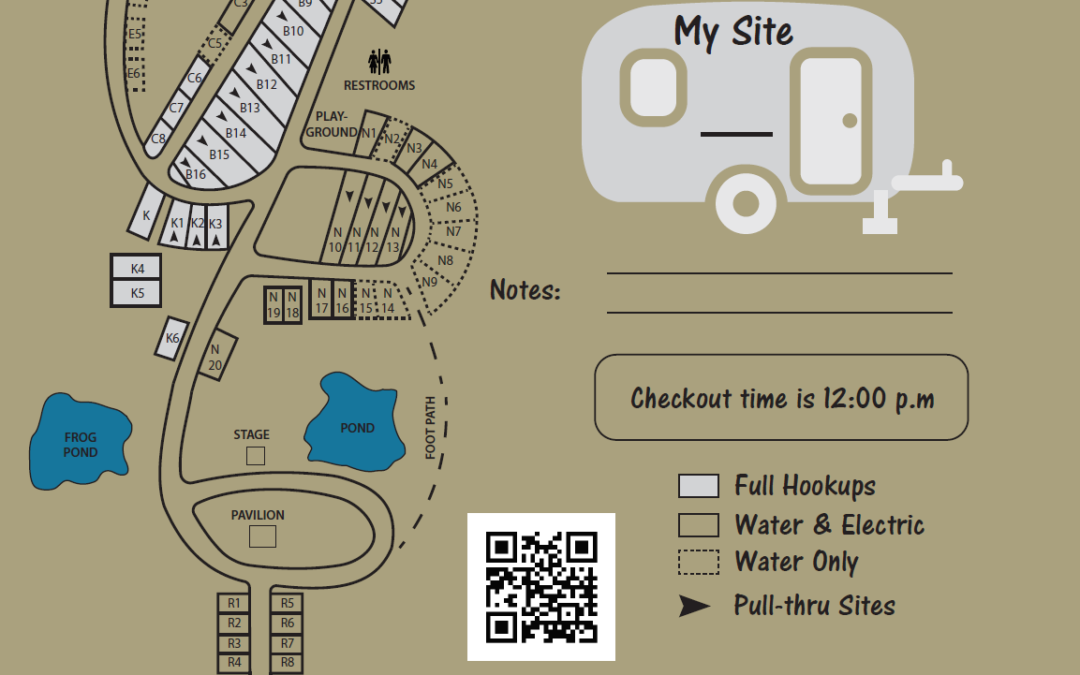 Campground Map Illustration