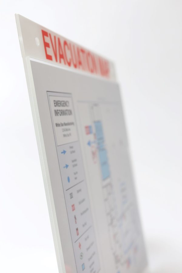 Evacuation Map Holder with Label