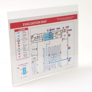 Standard Acrylic Evacuation Map Holder