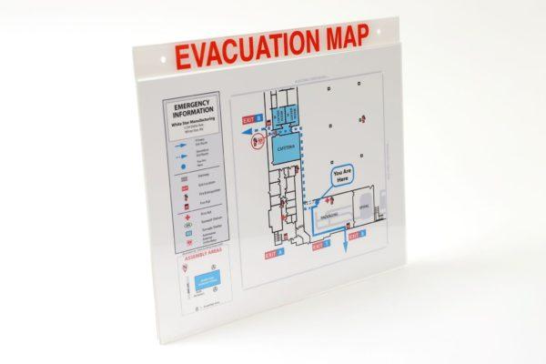 Acrylic Evacuation Map Holder with Label