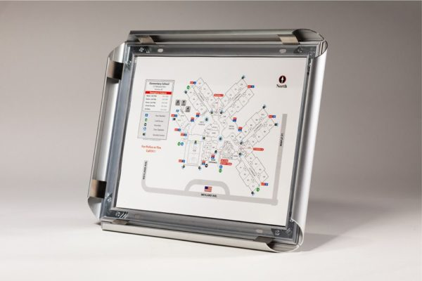 Anti-Tamper Evacuation Map Frame / Round, Standard Profile