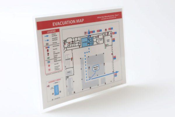 Evacuation Map Lamination / Special Order