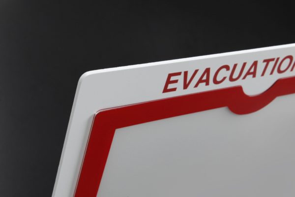 High Visibility Evacuation Map Holder