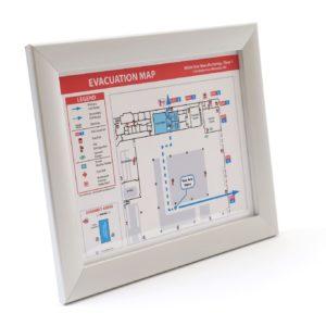 Wide/Flat Evacuation Map Frame