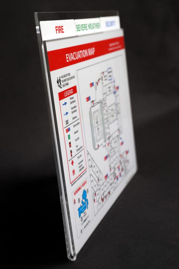 Tabbed Safety Maps - side Vvew