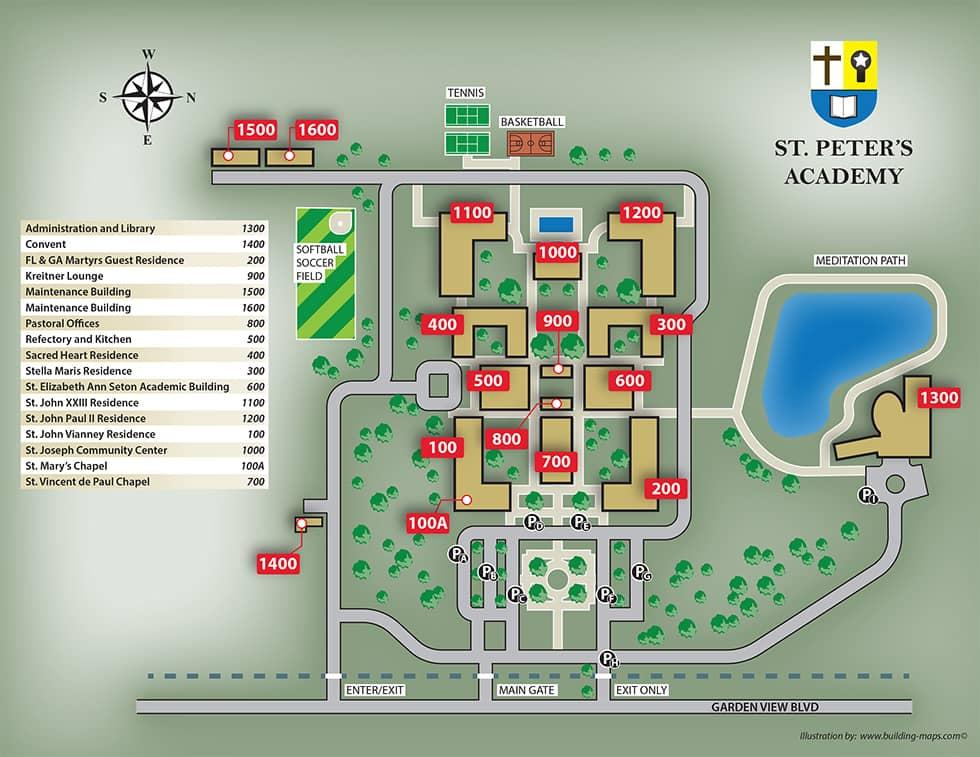 Campus Full Illustration Map