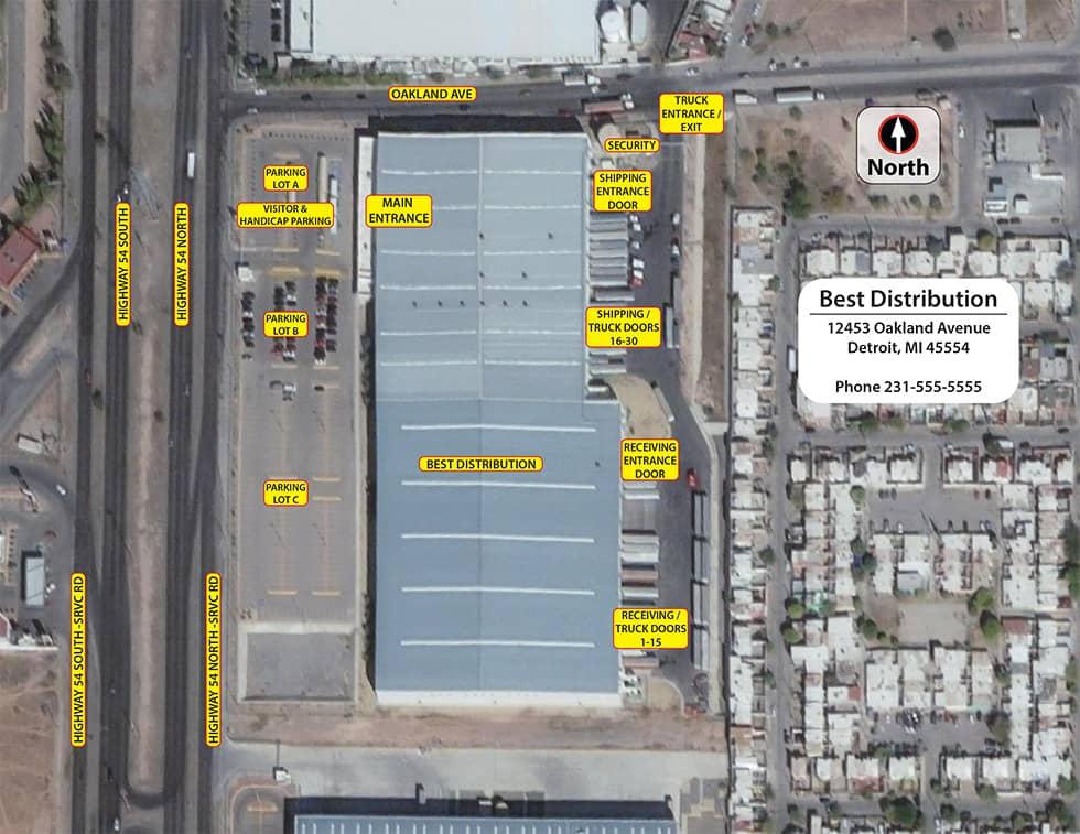 Campus Map Distribution Satellite Map