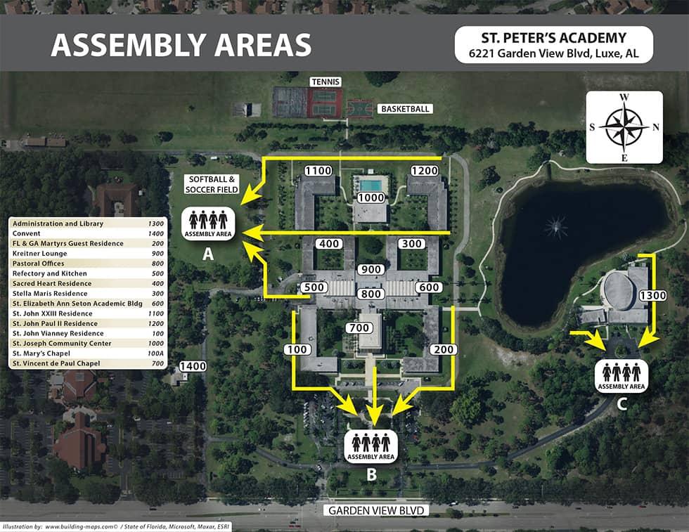 Campus Map Satellite Image
