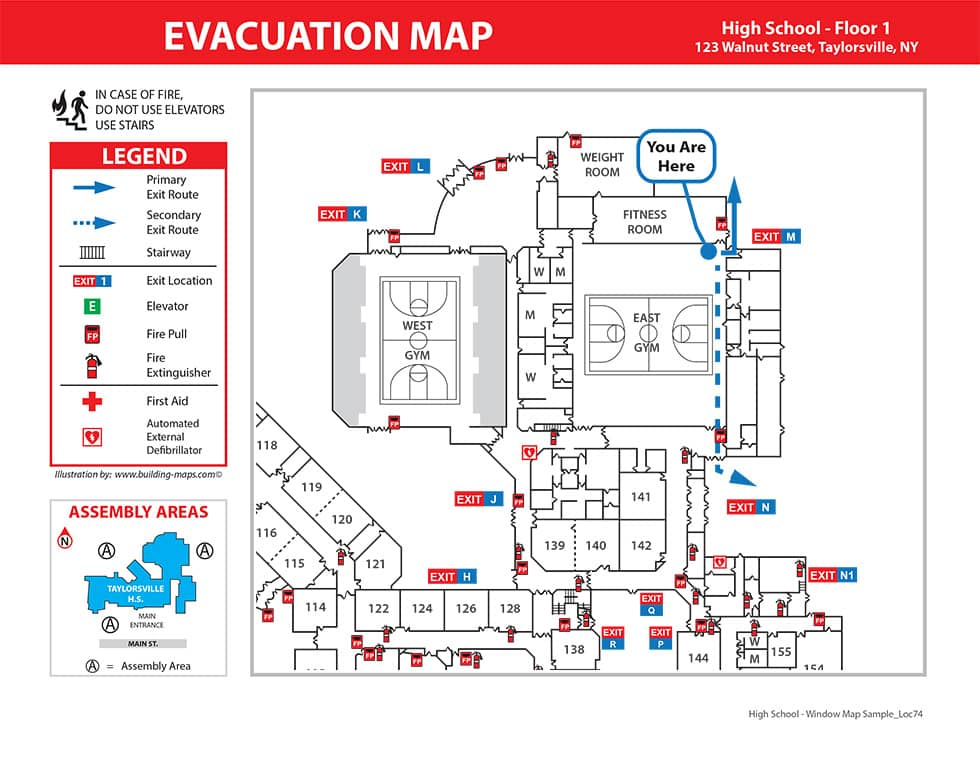 Fire Evacuation Map
