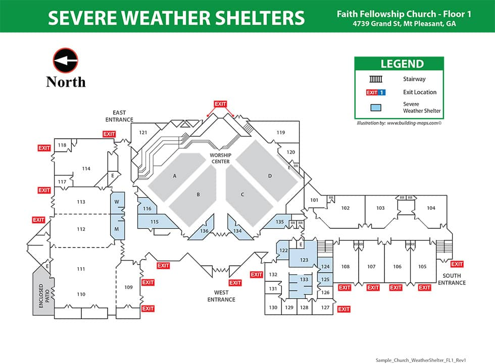 Fire Evacuation Map