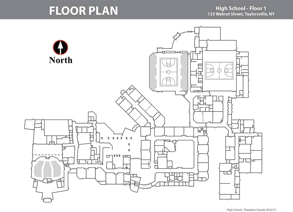 High School Floor Plan