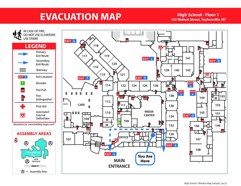 Proper Evacuation Map Orientation